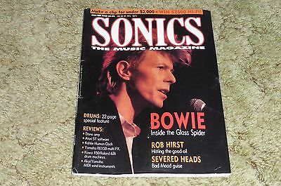 Sonics - The Music Magazine Jan/Feb 1988 - David Bowie and Severed Heads