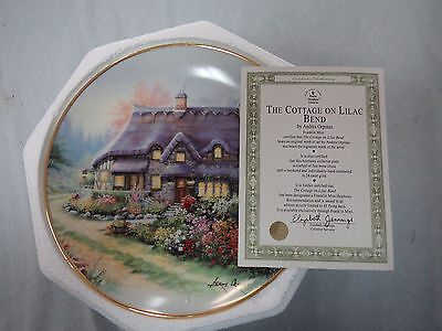 #CC.  FIVE  CERAMIC COLLECTOR PLATES  by ANDRES ORPINAS & LILLIPUT  LANE