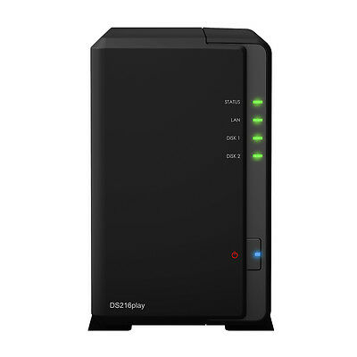 Synology DS216play 2 Bay NAS Dual Core 1.5GHz 1GB Network Storage Home Server