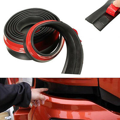 2.5M Car Lip Skirt Protector Front Bumper Spoiler Side Rubber Strip Trim Cheaply