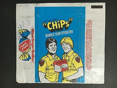 Chips Trading Card Wrapper By Donruss