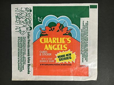Charlie's Angels Trading Card Wrapper By Topps From 1977