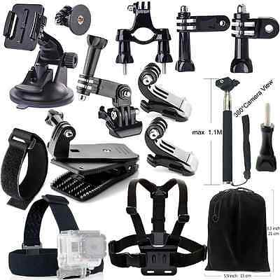 Iextreme Accessory Kit 16-in-1 Accessories Bundle for GoPro Hero5/4/3/2/1, SJCAM