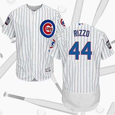 White Chicago Cubs Anthony Rizzo #44 Baseball Jersey 2016 World Series