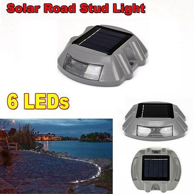 Outdoor Garden Road Driveway Pathway Lamp Path Solar Power 6 LED  Security Light