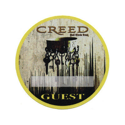 Creed authentic Guest 2010 tour Backstage Pass