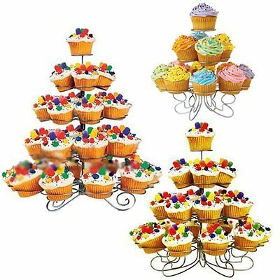 4 Tier 23 Cupcake Party Holder/Stand - Wedding Birthday Metal Display Muffin HT