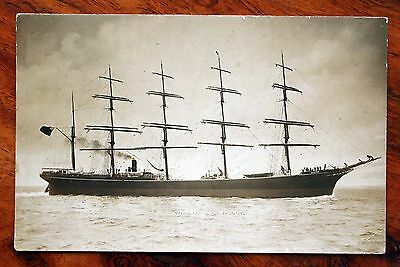 "German 5 Masted Sailing Steam Ship Rc Rickmers - Later ""neath"" Rp Postcard 1916"