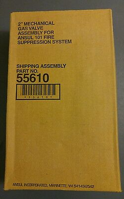 """Ansul 2"""" Mechanical Gas Valve Assembly 55610 New in unOpened Box Free Shipping"""