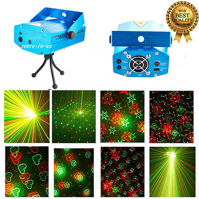 R&G LED Stage Lighting Mini Laser Projector Club Party DJ Disco Lights Xmas Gift