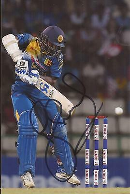 SRI LANKA: KUSAL PERERA SIGNED 6x4 ODI ACTION PHOTO+COA