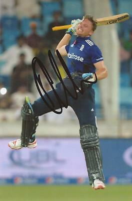 ENGLAND: JOS BUTTLER SIGNED 6x4 ODI ACTION PHOTO+COA