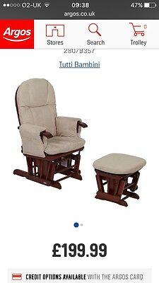 Tutti Bambini Gliding Chair With Footstool