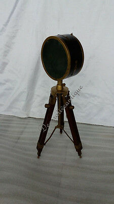 Vintage Nautical Wooden & Brass Replica  Projector Decorative Vintage Model
