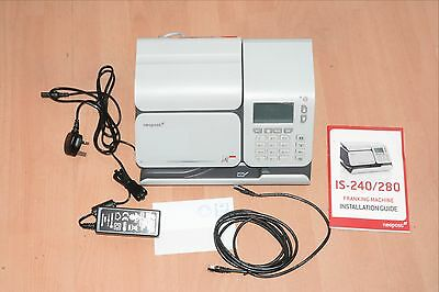 Neopost IS-280 Franking Machine Excellent condition Guide LAN Cable