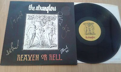 """The Stranglers Heaven or Hell 12"""" vinyl single (Autographed)"""