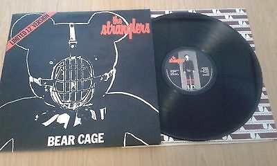 """The Stranglers Bear Cage 12"""" vinyl single (Autographed)"""