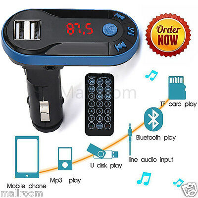 Bluetooth Wireless FM Transmitter MP3 Player Musik Handsfree LCD USB SD Remote