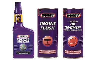 WYNNS 3 Pack Diesel Injector Cleaner + Engine Flush + Oil Treatment