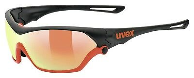 Uvex Sportstyle 705 Sportbrille - black mat orange
