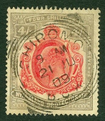 SG 79 British Central Africa. 4/- carmine & black. Very fine used Chiromo CDS...