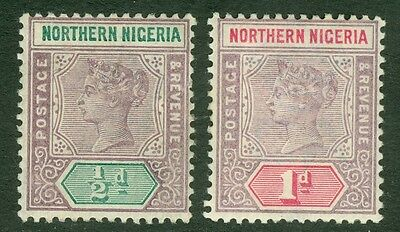 SG 4 Northern Nigeria ½d & 1d. Pristine very lightly mounted mint