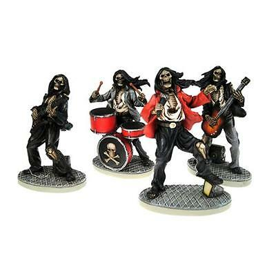 One Hell Of A Band , skeleton rock band 4 x figurines by Nemesis Now NEM3962