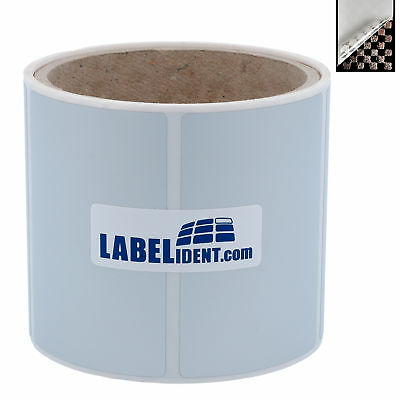 Thermotransfer Etiketten Rolle 76x51mm 100 St.Folie Sicherheit Siegel silber