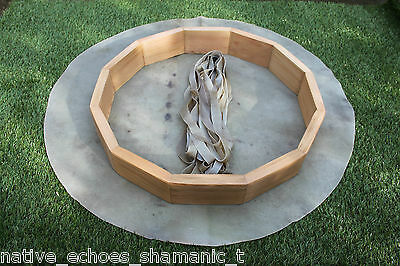 """Drum Making Kit 18"""" Red Stag Rawhide Drum & Beater.Native American Style.Shaman."""
