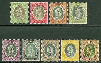 SG 1-9 Southern Nigeria ½d-10/- set of 9 values to 2/6. Lightly mounted...