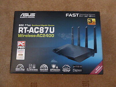 ASUS RT-AC87U 1734 Mbps Gigabit Wireless AC Router 802.11ac
