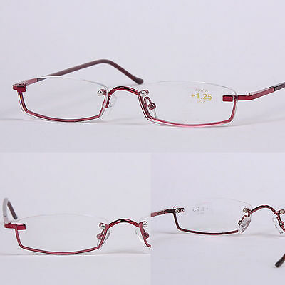 L70 3 Pairs Superb Quality Women Elegant Semi-Rimless Reading Glasses Only £4.99
