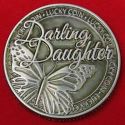 DARLING DAUGHTER LUCKY COIN, Beautiful Gift ! free ship