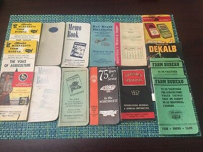 Vintage LOT of 15 Memo Books Agriculture & Farming Midwest .