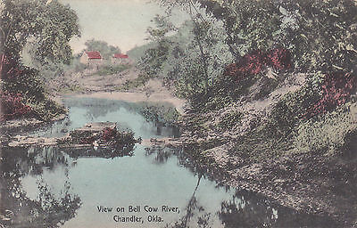CHANDLER , Oklahoma , 1912 , View on Bell Cow River