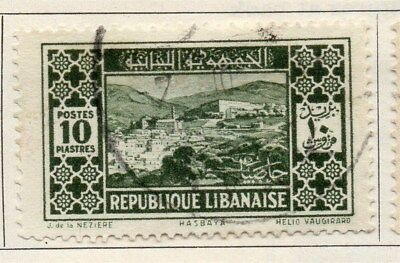Great Lebanon 1930 Early Issue Fine Used 10p. 109501