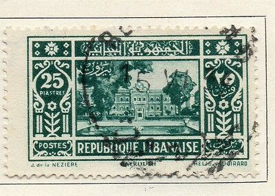Great Lebanon 1930 Early Issue Fine Used 25p. 109503