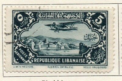 Great Lebanon 1930 Early Issue Fine Used 5p. 109504