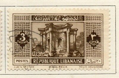 Great Lebanon 1931 Early Issue Fine Used 3p. 109513