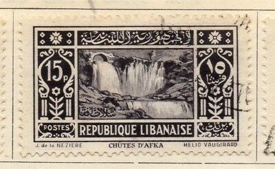 Great Lebanon 1930 Early Issue Fine Used 15p. 109533
