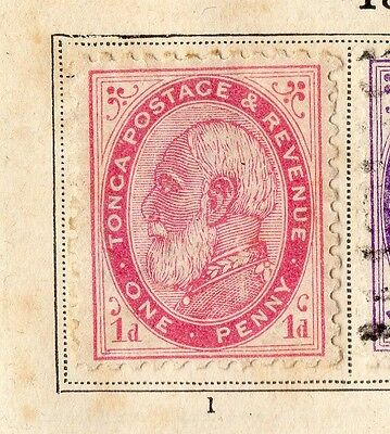 Tonga 1887 Early Issue Fine Used 1d. 109768