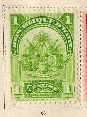 Haiti 1899 Early Issue Fine Mint Hinged 1c. 109811