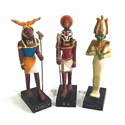 Hachette Egyptian The Gods Of Ancient Egypt Osiris Ra Khnum 3 Collectors Figures