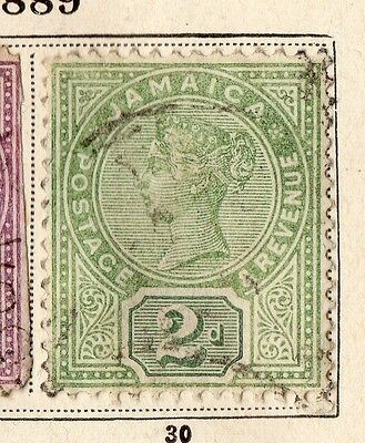 Jamaica 1889 Early Issue Fine Used 2d. 109860