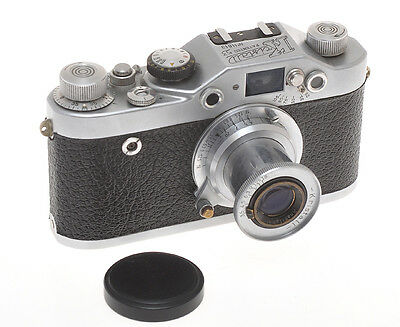Kristall 53 made by Chinaglia with 50/3.5 Kristall, rare 1953 Italian Leica copy