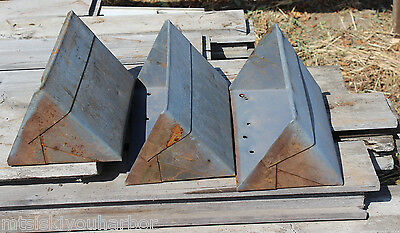 1 Antique Grain Elevator Conveyor Metal Scoop Bucket Rusty Barn Storage Bin #17