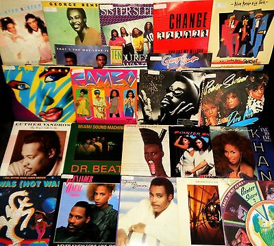 SOUL FUNK VINYL 45's LOT 38 x Singles All Pic Sleeves Pure Groove Electro Boogie