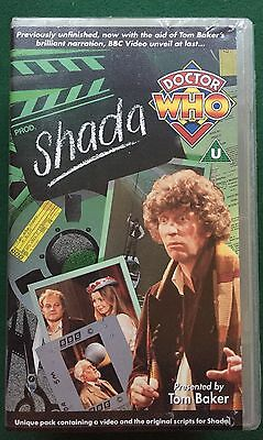 Doctor Who Shada BBC VHS Video With Script Book 1992 DELETED