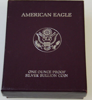 Supplies Box and Case 1986-1993 American Silver Proof Eagle NO COINS