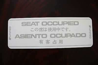 Occupied Sign United Airlines